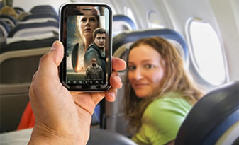 Inflight Media streaming|Digital media can be accessed by passengers using own devices.
